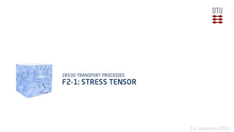 Thumbnail for entry F2-1: Stress tensor