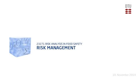 Thumbnail for entry Risk Management
