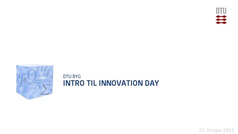 Thumbnail for entry Intro til Innovation Day