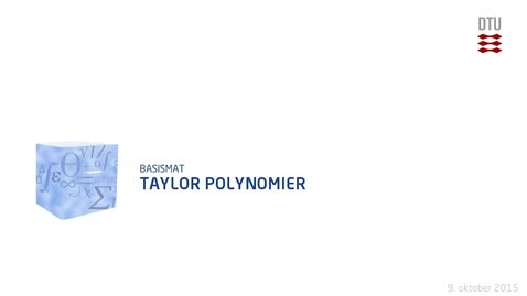 Thumbnail for entry Taylor Polynomier