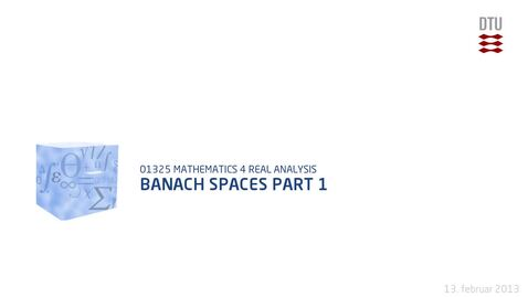 Thumbnail for entry Banach Spaces part 1