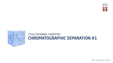 Thumbnail for entry Chromatographic Separation #1