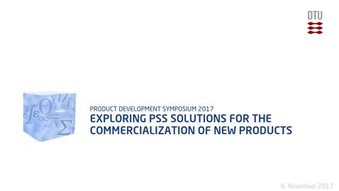 Thumbnail for entry Exploring PSS solutions for the commercialization of new products