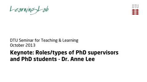 Thumbnail for entry Anne Lee Research Supervision: Introduction #3