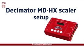 Thumbnail for entry Setting up Decimator MD-HX scaler