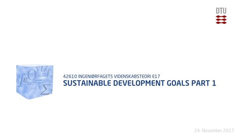Thumbnail for entry Sustainable Development Goals Part 1