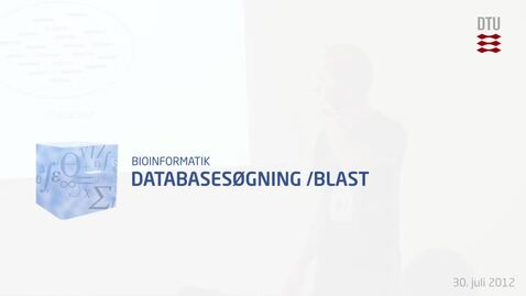Thumbnail for entry Databasesøgning /Blast