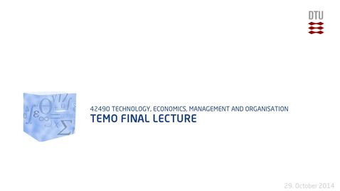 Thumbnail for entry TEMO Final Lecture