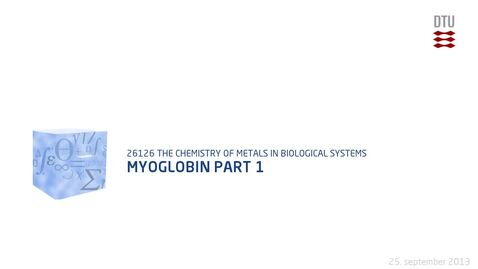 Thumbnail for entry Myoglobin Part 1