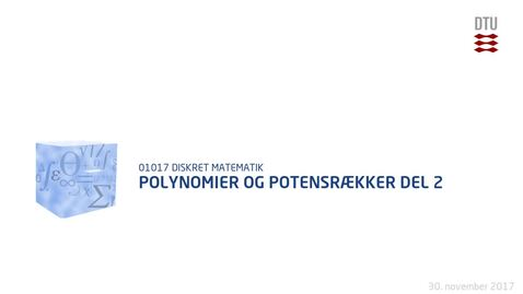 Thumbnail for entry Polynomier og potensrækker del 2
