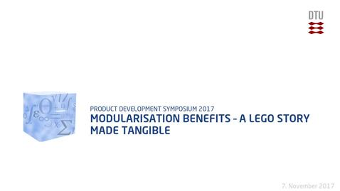Thumbnail for entry Modularisation Benefits – A LEGO Story made tangible
