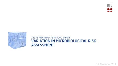 Thumbnail for entry Variation In Microbiological Risk Assessment