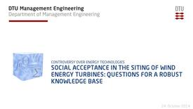 Thumbnail for entry Social Acceptance in the Siting of Wind Energy Turbines: Questions for a Robust Knowledge Base