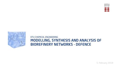 Thumbnail for entry Modelling, synthesis and analysis of biorefinery networks  - Defence