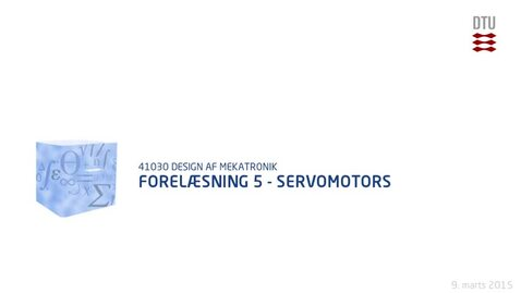 Thumbnail for entry Forelæsning 5 - Servomotors (480p)