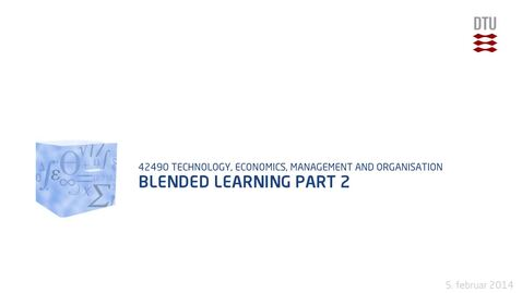 Thumbnail for entry Blended learning Part 2