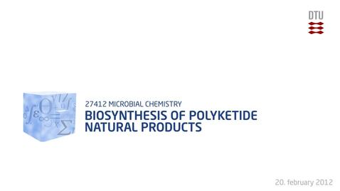 Thumbnail for entry Biosynthesis of polyketide natural products