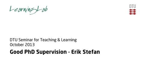 Thumbnail for entry Good PhD Supervision #2