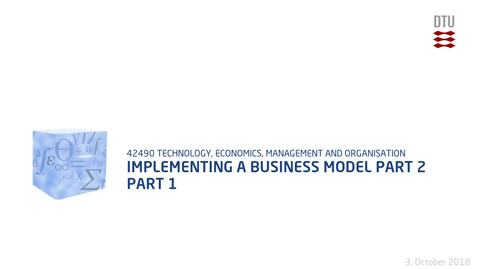 Thumbnail for entry Implementing a business model part 2 Part 1