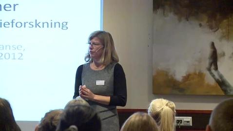 Thumbnail for entry Medieforskerkonferansen 2012 - Tanja Storsul