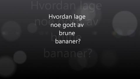 Thumbnail for entry Sunt bananbrød