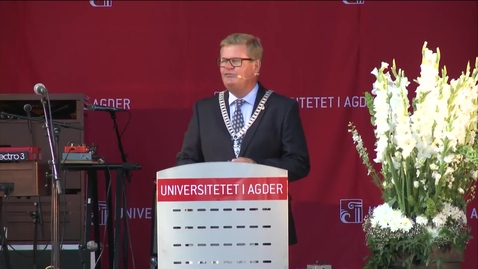 Thumbnail for entry Tale ved studiestart 2016 KRS - ordfører Harald Furre