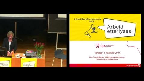 Thumbnail for entry Har Stortinget ansvar-  ved Lise Christoffersen fra arbeids og sosialkomiteen