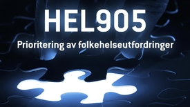 Thumbnail for entry HEL905 - 12 Prioritering av folkehelseutfordringer