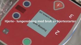 Thumbnail for entry Hjerte- lungeredning med bruk av hjertestarter
