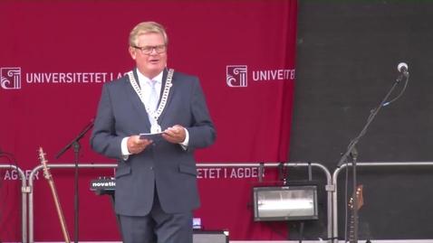 Thumbnail for entry Ordfører Harald Furre taler i Kristiansand