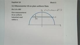 Thumbnail for entry Kapittel 18 3.3.2 Massesenter til en uniform flate eksempel 3.8