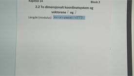 Thumbnail for entry Kapittel 14 2.2.3 Vektorer i et koordinatsystem - lengde
