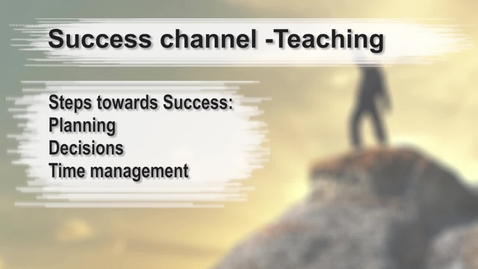 Thumbnail for entry Steps towards Success