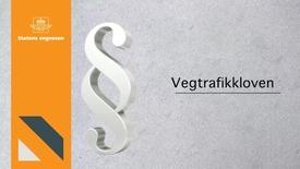 Thumbnail for entry Vegtrafikkloven
