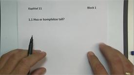 Thumbnail for entry Kapittel 11 1.1 Komplekse tall