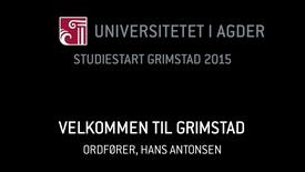Thumbnail for entry 5. Velkommen til Grimstad