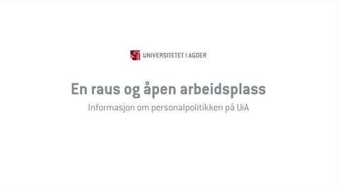 Thumbnail for entry En raus og åpen arbeidsplass