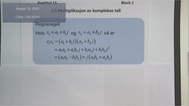 Thumbnail for entry Kapittel 11 1.5 Multiplikasjon av komplekse tall