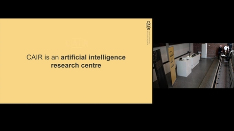 Thumbnail for entry CAIR - Centre for Artificial Intelligence Research - markerer ett år