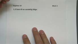 Thumbnail for entry Kapittel 19 1.3 Sum til en uendelig følge