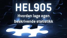 Thumbnail for entry HEL905 - 03 Hvordan lage egen beskrivende statistikk