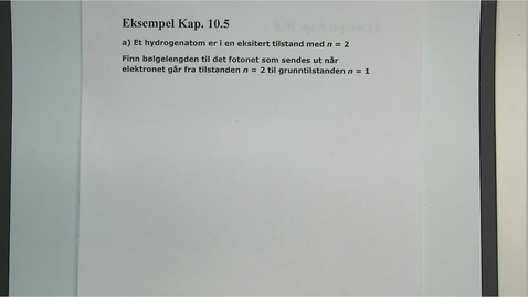 Thumbnail for entry Eksempel 10.5