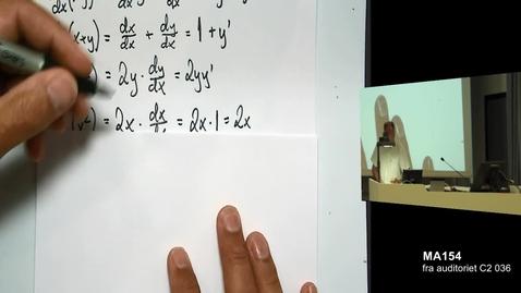 Thumbnail for entry Eksempel - Implisitt derivasjon