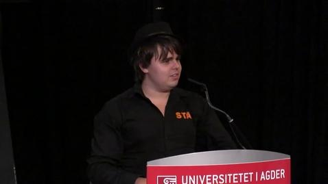 Thumbnail for entry Studiestart Grimstad 2013 - Ruben Haugland