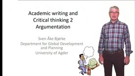 Thumbnail for entry Academic writing and Critical thinking 2 - Argumentation