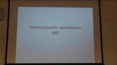Thumbnail for entry Motivasjonelle Operasjoner