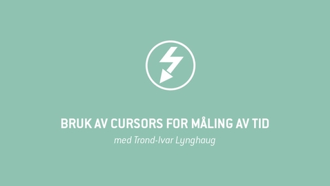 Thumbnail for entry Oscilloskop 10 - Bruk av Cursors for måling av tid
