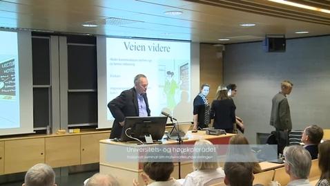 Thumbnail for entry Nasjonalt seminar om matematikkundervisning - del 2 - 35min.