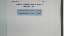 Thumbnail for entry Kapittel 14 2.2 Vektorer i et koordinatsystem - enhetsvektorer