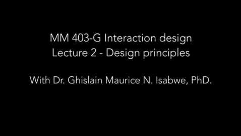 Thumbnail for entry Lecture 2 - Design principles